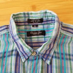 Christian Dior Vintage Plaid Shirt